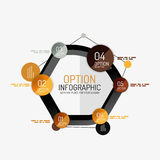 Minimal line design office web infographics Royalty Free Stock Photography