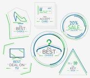 Minimal line design shopping stamps Stock Photo