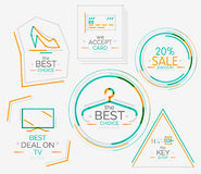 Minimal line design shopping stamps Stock Photo