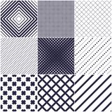 Minimal Lines Vector Seamless Patterns Set, Abstract Backgrounds Royalty Free Stock Photo
