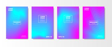 Minimal Liquid cover design set. Future Poster templates with Fluid gradient shape with transparent blend. Geometric. Halftone colorful gradient texture. vector Royalty Free Stock Image