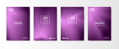 Minimal Liquid cover design set. Future Poster templates with Fluid gradient shape with transparent blend. Geometric. Halftone colorful gradient texture. vector Stock Photography