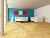 Minimal living room Royalty Free Stock Images