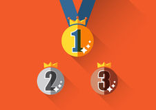 Minimal medal badge vector Stock Photography