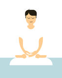 Minimal meditation illustration Stock Photography