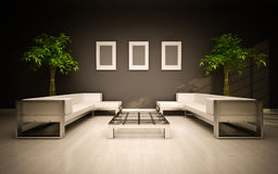 Minimal modern interior Stock Images