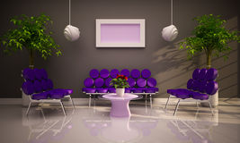 Minimal modern interior Royalty Free Stock Photos