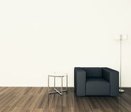 Minimal modern interior armchair Stock Image