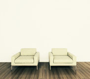 Minimal modern interior armchair. Modern comfortable interior, 3d image Stock Photography