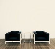 Minimal modern interior armchair. Modern comfortable interior, 3d image Stock Images
