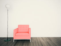 Free Minimal Modern Interior Armchair FACE A BLANK WALL Stock Photos - 23855413