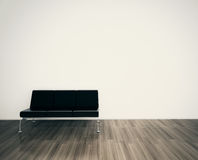 Minimal modern interior couch face blank wall Stock Photos