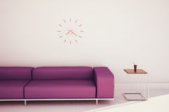 Minimal modern interior couch and table. Modern comfortable interior, 3d image Stock Image