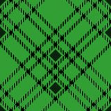 Minimal monochrome black green seamless tartan check plaid pixel pattern for fabric designs. Gingham vichy pattern background. eps. 10 stock illustration