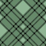 Minimal monochrome black green seamless tartan check plaid pixel pattern for fabric designs. Gingham vichy pattern background. eps. 10 royalty free illustration