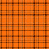 Minimal monochrome black orange seamless tartan check plaid pixel pattern for fabric designs. Gingham vichy pattern background. Eps10 royalty free illustration