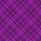 Minimal monochrome black purple seamless tartan check plaid pixel pattern for fabric designs. Gingham vichy pattern background. Eps10 vector illustration