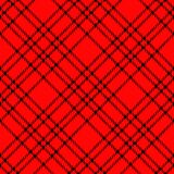 Minimal monochrome black red seamless tartan check plaid pixel pattern for fabric designs. Gingham vichy pattern background. eps. 10 vector illustration