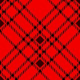 Minimal monochrome black red seamless tartan check plaid pixel pattern for fabric designs. Gingham vichy pattern background. eps. 10 royalty free illustration