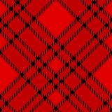 Minimal monochrome black red seamless tartan check plaid pixel pattern for fabric designs. Gingham vichy pattern background. eps. 10 stock illustration