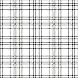 Minimal monochrome black white seamless tartan check plaid pixel pattern for fabric designs. Gingham vichy pattern background. Eps10 stock illustration