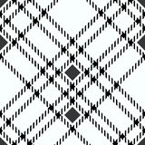 Minimal monochrome black white seamless tartan check plaid pixel pattern for fabric designs. Gingham vichy pattern background. Eps10 vector illustration