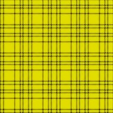 Minimal monochrome black yellow seamless tartan check plaid pixel pattern for fabric designs. Gingham vichy pattern background. Eps 10 vector illustration