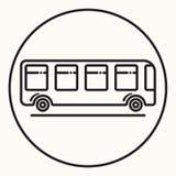 Minimal outline bus icon Stock Image