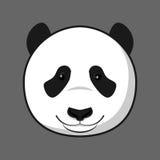 Minimal panda face. A minimal smilling panda face Royalty Free Stock Photo