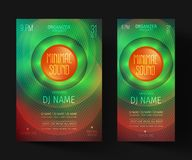 Minimal party flyer. Invitations for a night club or electronic festival in the style of house,dubstep,techno,minimal. Minimal party flyer. Invitations for a Royalty Free Stock Photo