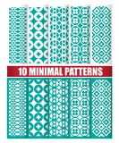 10 minimal patterns. 10 minimal design of texture patterns vector illustration