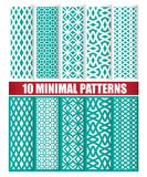 10 minimal patterns. 10 minimal design of texture patterns stock illustration