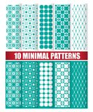 10 minimal patterns. 10 minimal design of texture patterns royalty free illustration