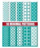 10 minimal patterns. 10 minimal design of texture patterns Royalty Free Stock Photo