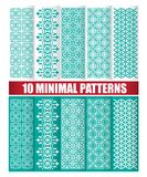 10 minimal patterns. 10 minimal design of texture patterns Royalty Free Stock Photography