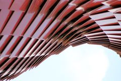 MInimal pavillion red. Pavillion minimal in Expo Milano Stock Images