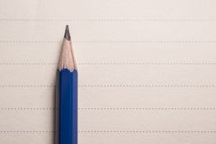 minimal pencil on notebook lines background with copy spcae view Stock Image