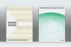 Minimal placard. Vector geometric cover. stock illustration