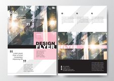 Minimal Poster Brochure Flyer design Layout vector template in A4 size, Pastel color Royalty Free Stock Photography