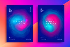 Free Minimal Poster Layout With Vibrant Gradient Blurs. Stock Image - 193895181