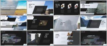 Minimal presentations design, portfolio vector templates with colorful gradient geometric background. Gray design royalty free illustration