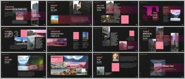 Minimal presentations design, portfolio vector templates with colorful gradient design geometric trending elements. Multipurpose template for presentation vector illustration