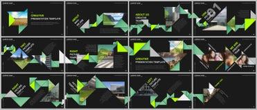 Minimal presentations design, portfolio vector templates with colorful triangle origami paper elements. Multipurpose. Template for presentation slide, flyer vector illustration