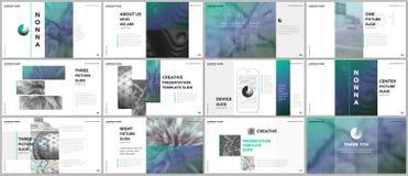 Minimal presentations design, portfolio vector templates with elements on white background. Multipurpose template for vector illustration
