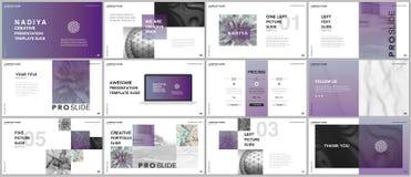Minimal presentations, portfolio templates. Blue elements on a white background. Brochure cover vector design. Presentation slides. For flyer, leaflet, brochure Royalty Free Stock Images