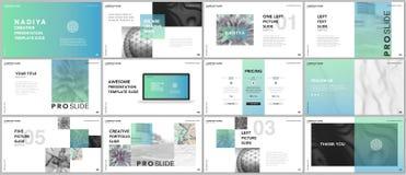 Minimal presentations, portfolio templates. Blue elements on a white background. Brochure cover vector design. Presentation slides for flyer, leaflet, brochure Royalty Free Stock Photo