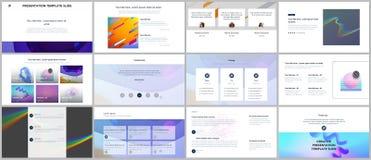 Minimal presentations, portfolio templates. Simple elements on white background. Brochure cover vector design. Presentation slides for flyer, leaflet, brochure Royalty Free Stock Images
