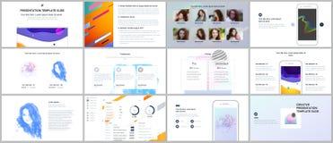 Minimal presentations, portfolio templates. Simple elements on white background. Brochure cover vector design. Presentation slides for flyer, leaflet, brochure Stock Photography