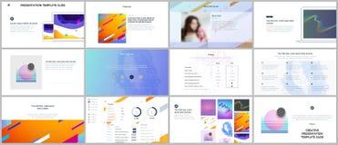 Minimal presentations, portfolio templates. Simple elements on white background. Brochure cover vector design. Presentation slides for flyer, leaflet, brochure Stock Images