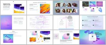 Minimal presentations, portfolio templates. Simple elements on white background. Brochure cover vector design. Presentation slides for flyer, leaflet, brochure Royalty Free Stock Photography